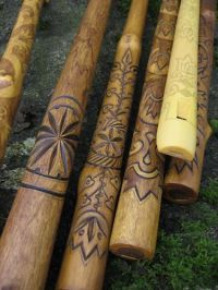 "Wooden ""koncovka"" (folk heritage breathing musical instrument) production"
