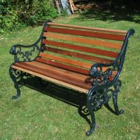 Restoration project: antique garden bench